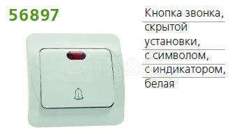 Кнопка звонка СП SUNNY с символом и инд. POWERMAN 1151381 купить в интернет-магазине RS24