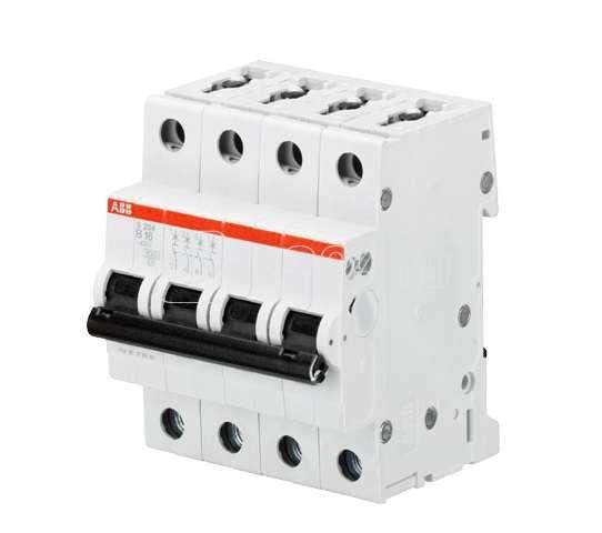 Выключатель автоматический модульный 4п B 10А 10кА S204M ABB 2CDS274001R0105 купить в интернет-магазине RS24