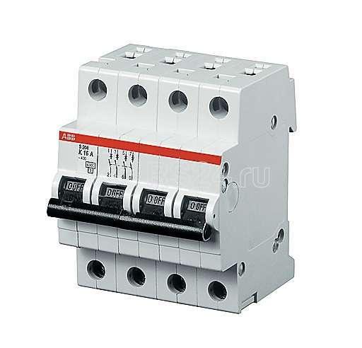 Выключатель автоматический модульный 4п B 32А 25кА S204P ABB 2CDS284001R0325 купить в интернет-магазине RS24