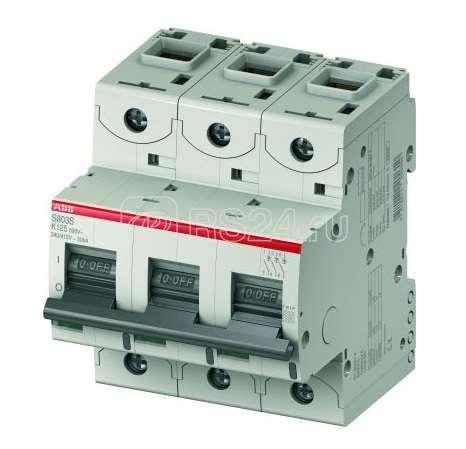 Выключатель автоматический модульный 3п K 8А 50кА S803S ABB 2CCS863001R0407 купить в интернет-магазине RS24