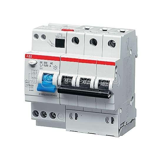 Выключатель авт. диф. тока 3п 5мод. B 20А 30мА тип A DS203M ABB 2CSR273101R1205 купить в интернет-магазине RS24