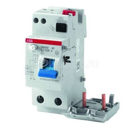 Блок дифференциального тока 2п 63А 300мА тип AC DDA202 AC-63/0.3 2мод. ABB 2CSB202001R3630 купить в интернет-магазине RS24