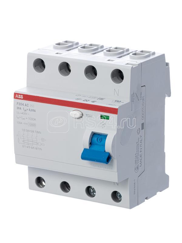 Выключатель диф. тока 4п 125А 100мА тип AC F204 ABB 2CSF204001R2950 купить в интернет-магазине RS24