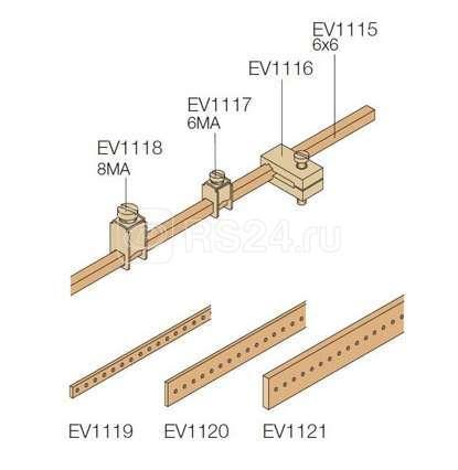 Изолятор для шины Нейтраль/Земля EV1115 (уп.50шт) ABB EV1116 купить в интернет-магазине RS24