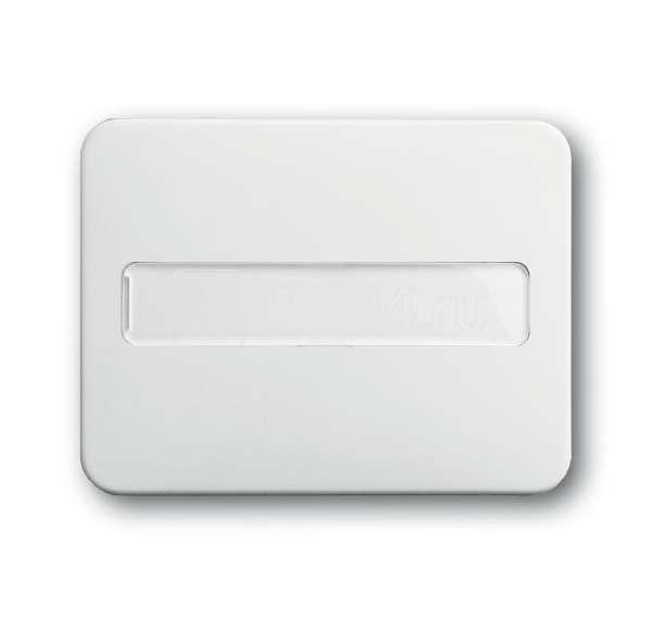 Клавиша с полем для надписи со световодом для выкл./переключ./кнопок alpha nea бел. глянцевый ABB 1731-0-1569 купить в интернет-магазине RS24
