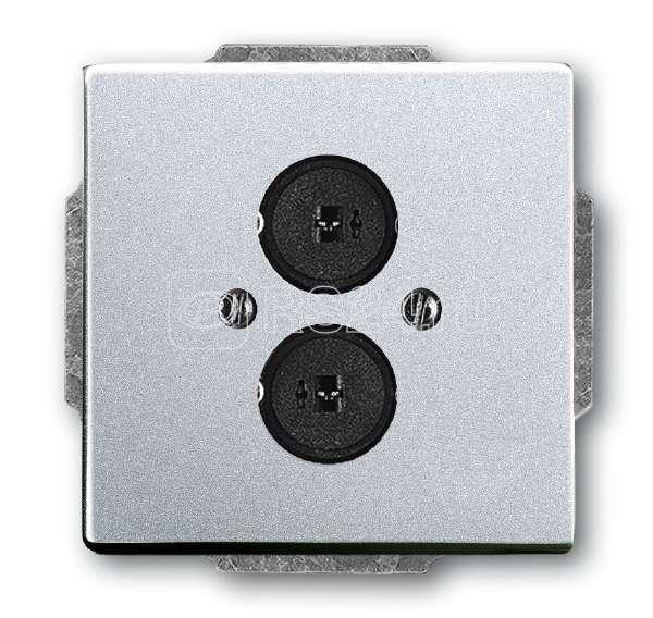 Плата центральная с суппортом с 2-мя разъемами для громкоговорителя solo/future серебр.-алюм. ABB 1723-0-0254 купить в интернет-магазине RS24