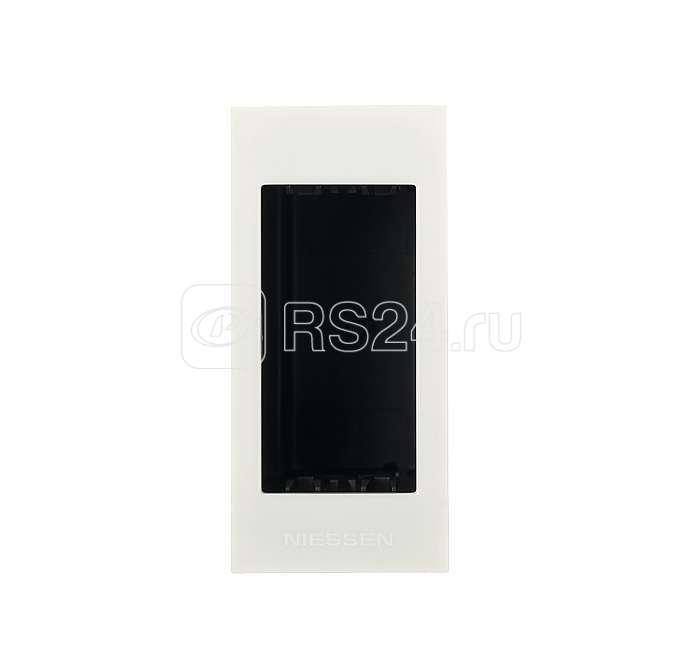 Цоколь для установки в мебель/перегородки на 1мод. Zenit бел. ABB N2671 BL купить в интернет-магазине RS24