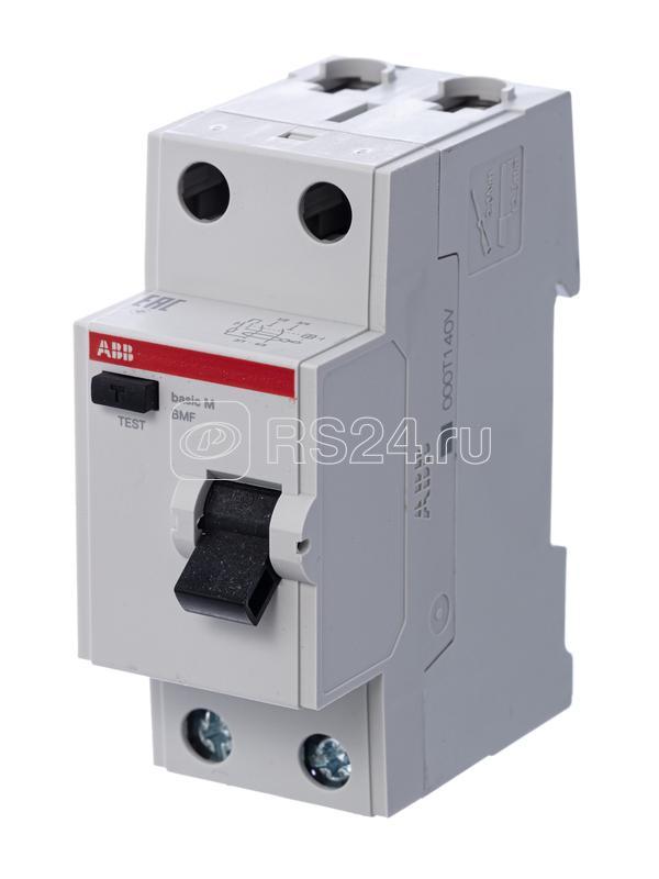 Выключатель диф. тока 2п 25А 100мА тип AC Basic M BMF42225 ABB 2CSF602042R2250 купить в интернет-магазине RS24