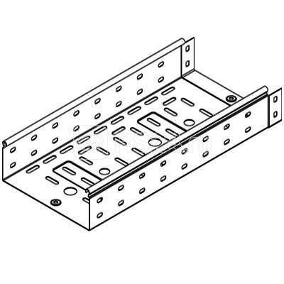 Лоток листовой перфорированный 80х80 L3000 сталь 1мм цинк-ламель ДКС 3530110ZL купить в интернет-магазине RS24