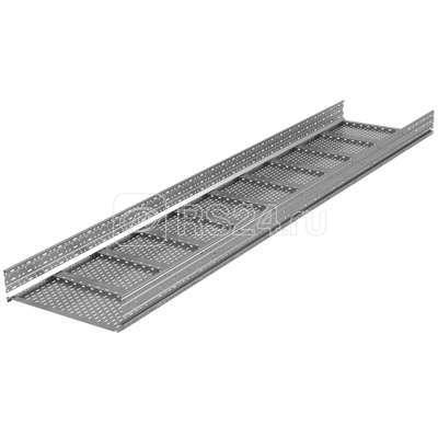 Лоток листовой перфорированный 500х150 L3000 сталь 1.5мм тяжелый (лонжерон) ДКС USM355 купить в интернет-магазине RS24