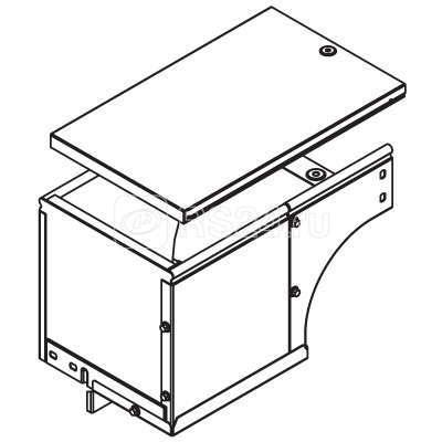 Угол для лотка вертикальный внешний прав. 90град. 400х100 CDSD 90 гор. оцинк. ДКС 37016HDZ купить в интернет-магазине RS24
