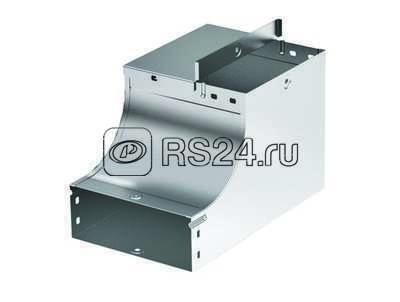 Угол для лотка вертикальный внутр. CSSD 90 переходник прав. осн. 400 H50 цинк-ламель ДКС 37665ZL купить в интернет-магазине RS24