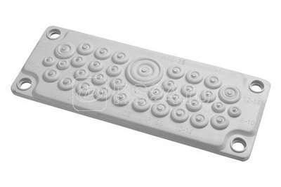 Ввод кабельный пластик V0 UL94. (35 отв.) IP65 ДКС R5HTC35