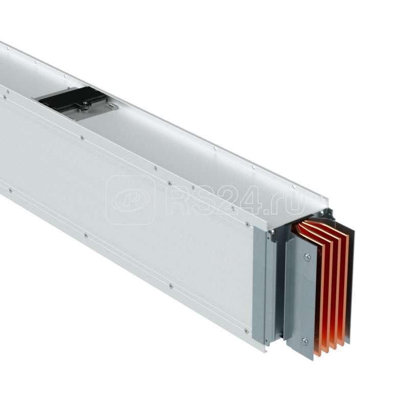 Секция шинопровода прямая 2+2 точек отвода L=0-2999мм Cu 3P+N+Pe 6400А IP55 ДКС PTC64ESP23AA000 купить в интернет-магазине RS24