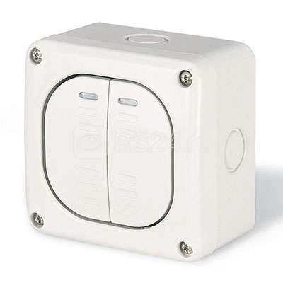Выключатель 1п 2-кл. настенный ДКС DIS1375022 купить в интернет-магазине RS24