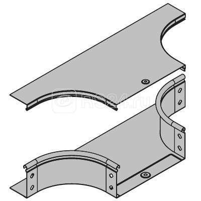 Крышка на ответвитель DPT Т-образный горизонтальный осн. 300 ДКС 38045