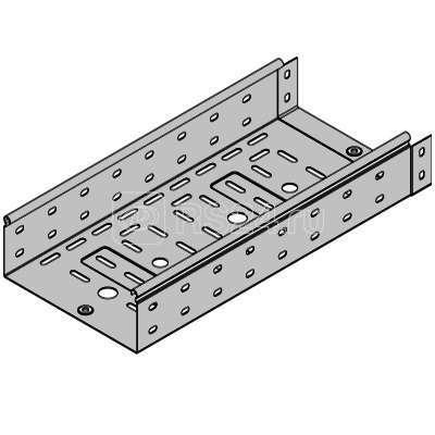 Лоток листовой перфорированный 100х50 L2000 сталь 0.7мм ДКС 35252 купить в интернет-магазине RS24