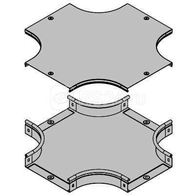 Ответвитель для лотка Х-образ. DPX 100х50 ДКС 36182