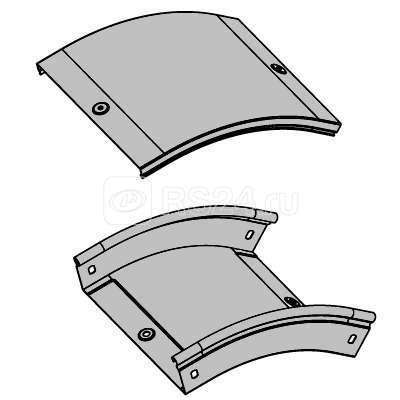 Угол для лотка вертикальный внешний 45град. 100х50 CD45 ДКС 36842
