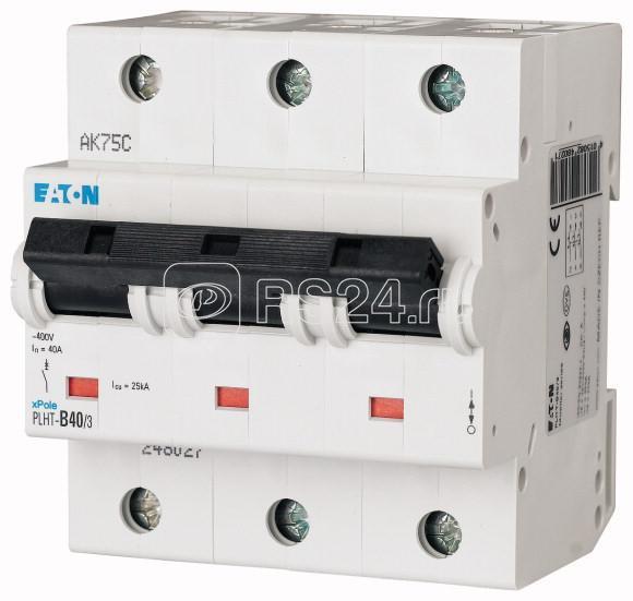 Выключатель автоматический модульный 3п D 40А 25кА PLHT-D40/3 EATON 248045 купить в интернет-магазине RS24