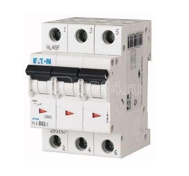 Выключатель автоматический модульный 3п B 16А 4.5кА PL4-B16/3 EATON 293151 купить в интернет-магазине RS24