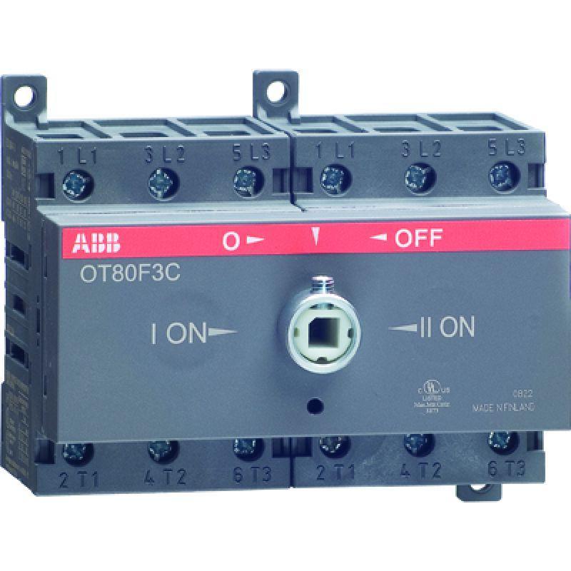 Рубильник реверсивный OT63F3C 63А (45А AC23) ABB 1SCA105338R1001