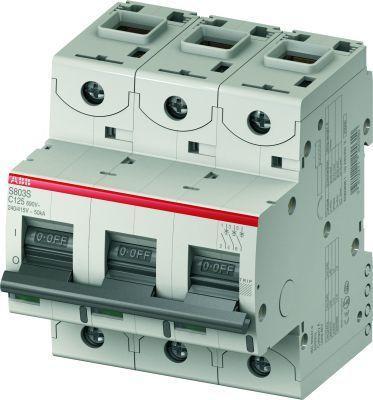 Выключатель автоматический модульный 3п C 100А 25кА S803C C100 ABB 2CCS883001R0824