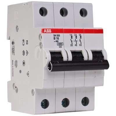 Выключатель автоматический модульный 3п C 50А 6кА SH203 C50 ABB 2CDS213001R0504