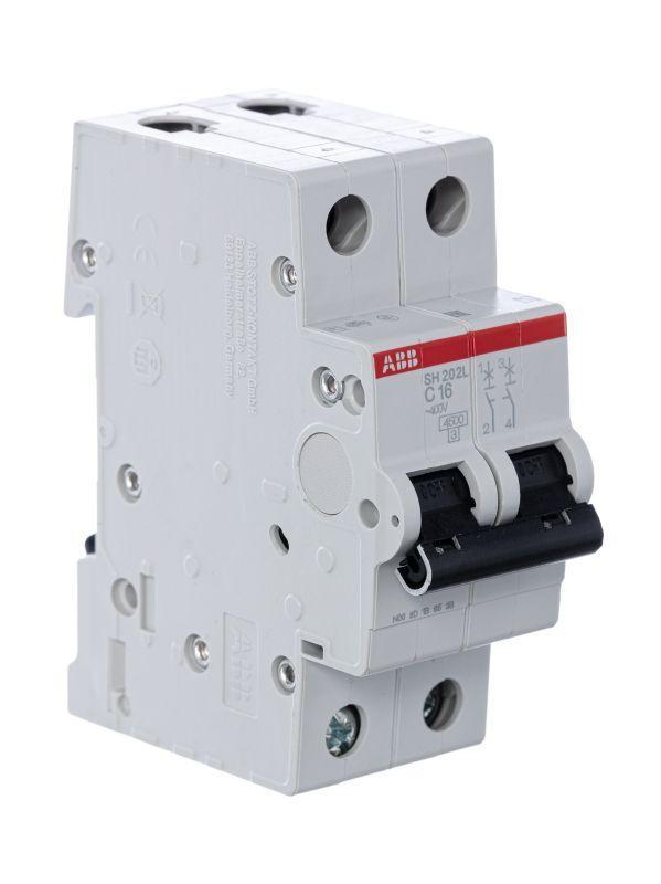 Выключатель автоматический модульный 2п C 16А 4.5кА SH202L C16 ABB 2CDS242001R0164