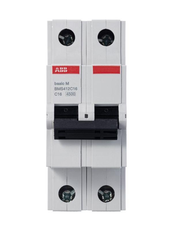 Выключатель автоматический модульный 2п C 16А 4.5кА Basic M BMS412C16 ABB 2CDS642041R0164