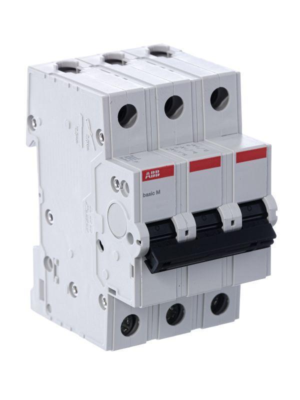 Выключатель автоматический модульный 3п C 63А 4.5кА Basic M BMS413C63 ABB 2CDS643041R0634