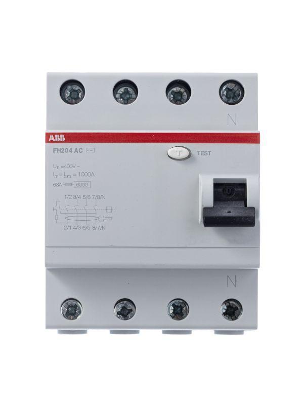 Выключатель дифференциального тока (УЗО) 4п 40А 30мА тип AC FH204 ABB 2CSF204004R1400
