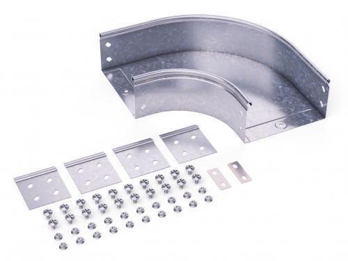 Угол для лотка горизонтальный 90град. 400х100 CPO 90 в комплекте с крепеж. элементами DKC 36045K