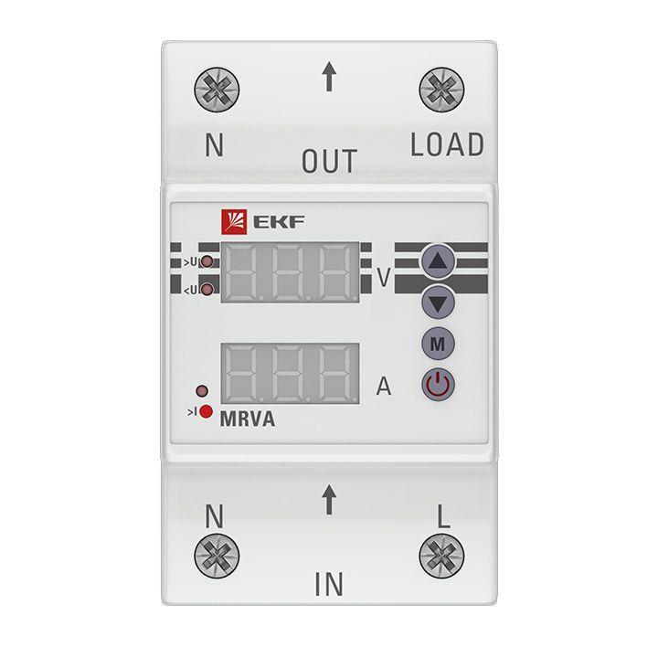 Реле напряжения и тока с дисплеем MRVA 32А PROxima EKF MRVA-32A