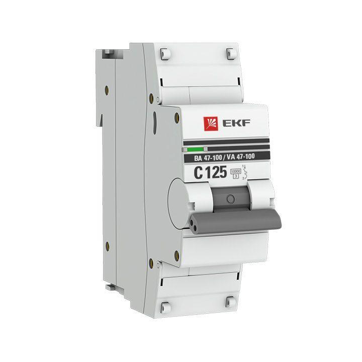 Выключатель автоматический модульный 1п C 25А 10кА ВА 47-100 PROxima EKF mcb47100-1-25C-pro