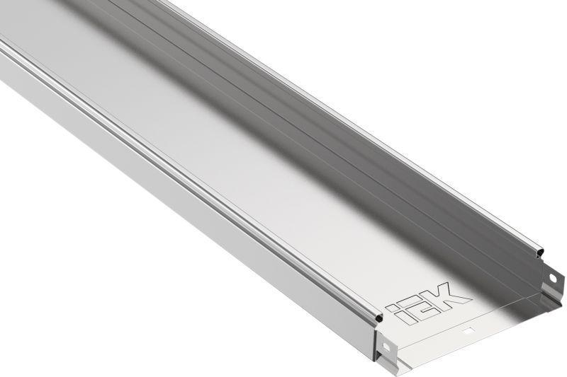 Лоток листовой неперфорированный 300х50 L3000 сталь 0.8мм IEK CLN10-050-300-3