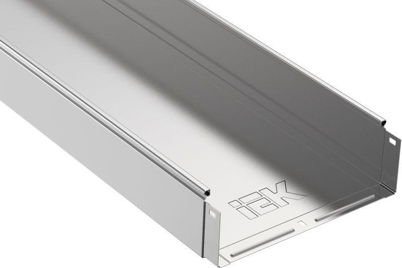 Лоток листовой неперфорированный 300х100 L3000 сталь 1мм IEK CLN10-100-300-3