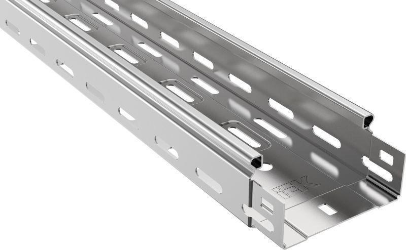 Лоток листовой перфорированный 100х50 L3000 сталь 0.7мм IEK CLP10-050-100-3
