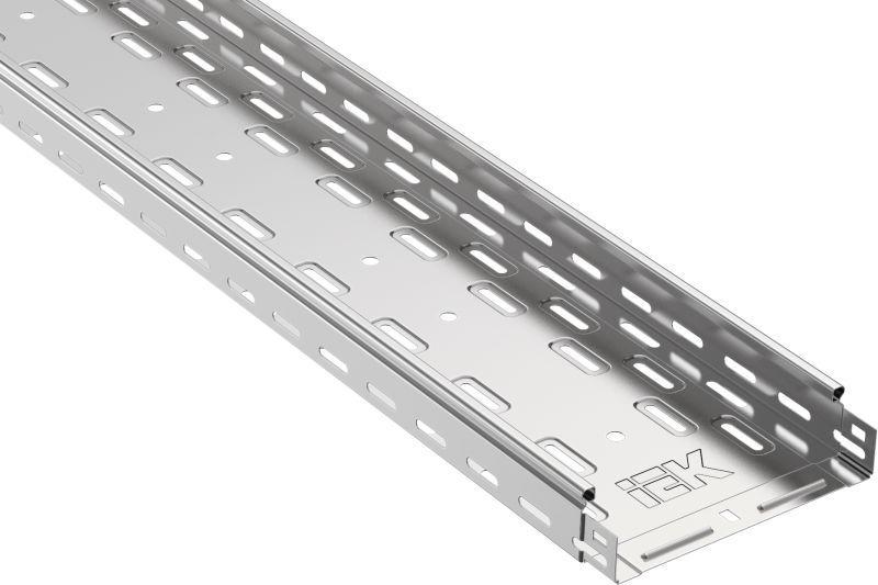 Лоток листовой перфорированный 150х50 L3000 сталь 0.7мм IEK CLP10-050-150-3