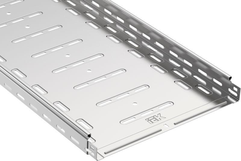 Лоток листовой перфорированный 400х50 L3000 сталь 1мм IEK CLP10-050-400-3