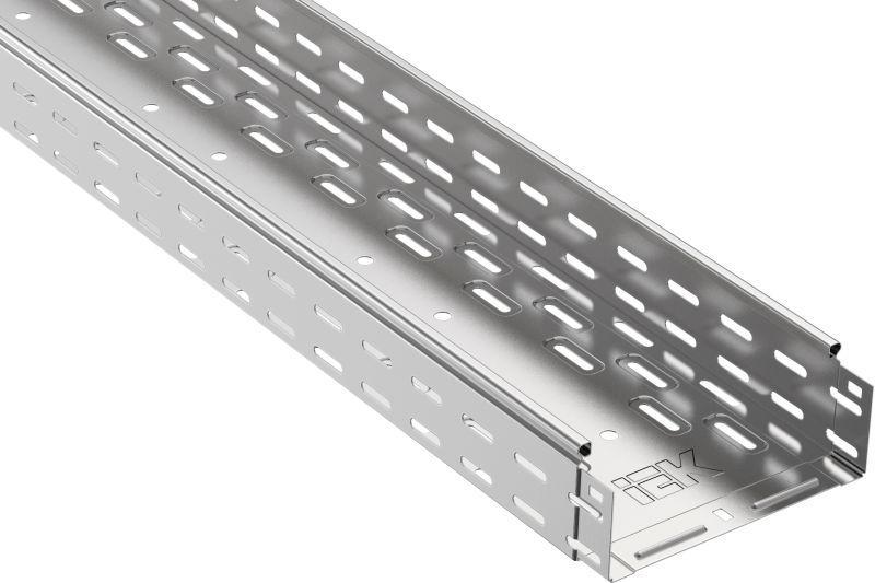 Лоток листовой перфорированный 300х80 L3000 сталь 0.8мм IEK CLP10-080-300-3