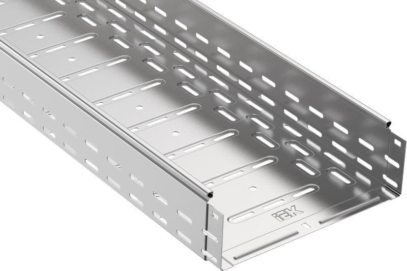 Лоток листовой перфорированный 300х100 L3000 сталь 1мм IEK CLP10-100-300-3