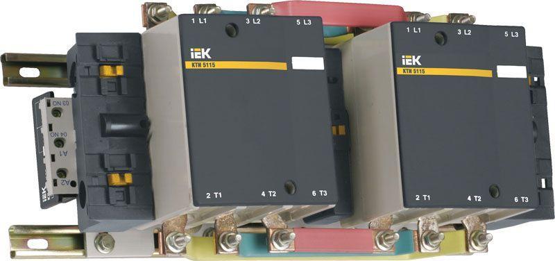 Контактор КТИ-51153 реверс 115А 230В/АС3 ИЭК KKT53-115-230-10