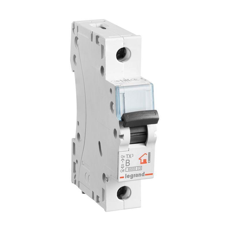 Выключатель автоматический модульный 1п B 10А 6кА TX3 6000 1мод. 230/400В Leg 403970