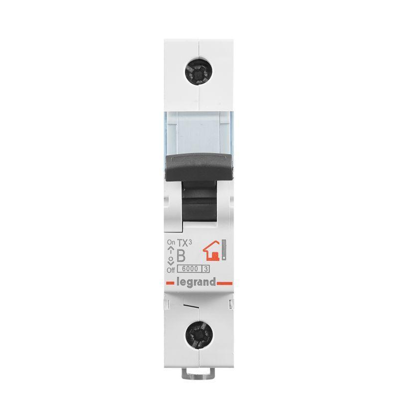 Выключатель автоматический модульный 1п B 16А 6кА TX3 6000 1мод. 230/400В Leg 403972