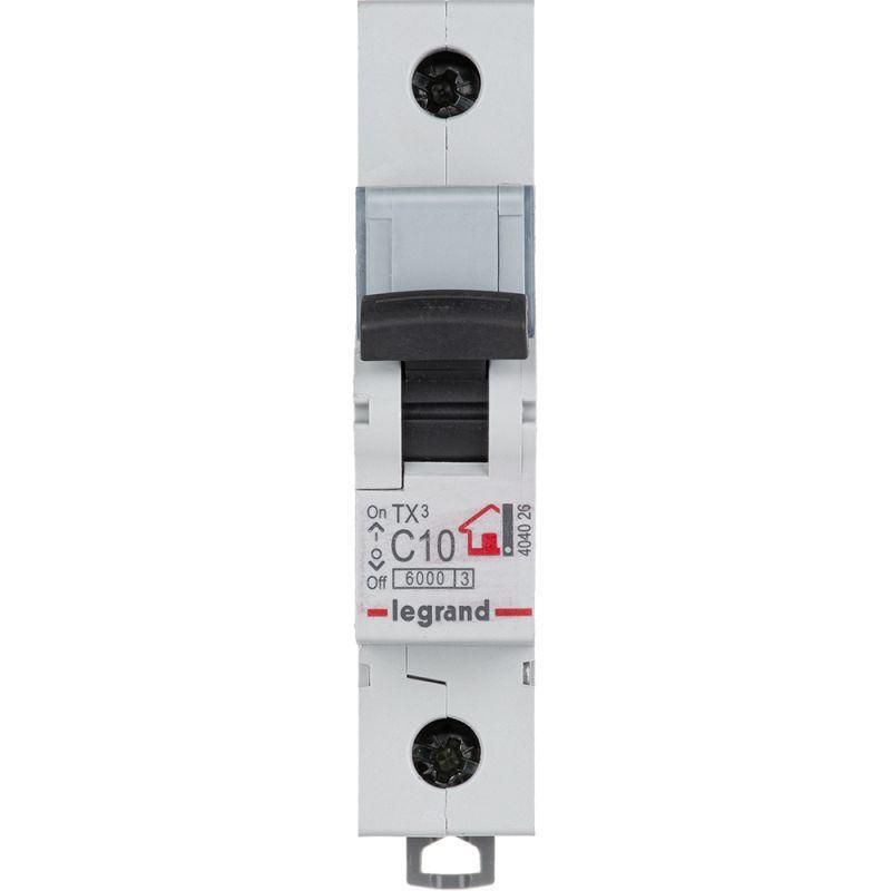 Выключатель автоматический модульный 1п C 10А 6кА TX3 6000 1мод. 230/400В Leg 404026