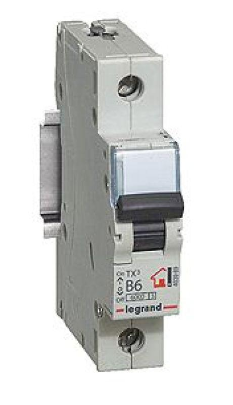 Выключатель автоматический модульный 1п C 20А 6кА TX3 6000 1мод. 230/400В Leg 404029