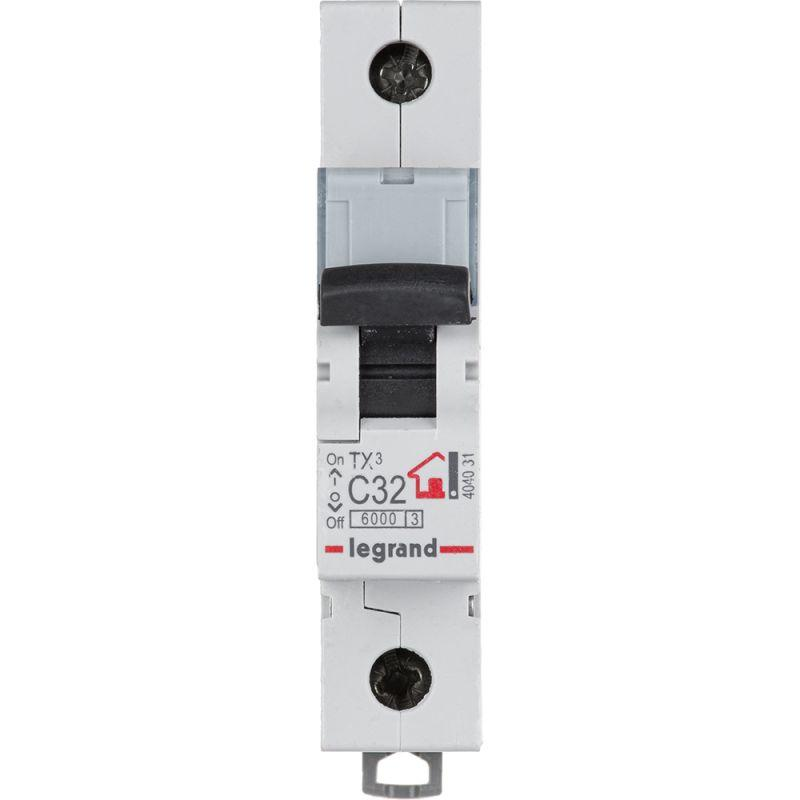 Выключатель автоматический модульный 1п C 32А 6кА TX3 6000 1мод. 230/400В Leg 404031