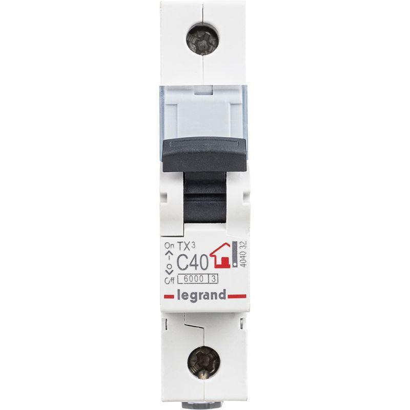Выключатель автоматический модульный 1п C 40А 6кА TX3 6000 1мод. 230/400В Leg 404032