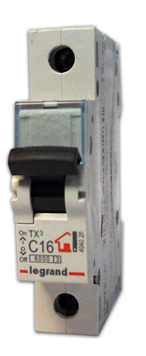Выключатель автоматический модульный 1п C 50А 6кА TX3 6000 1мод. 230/400В Leg 404033